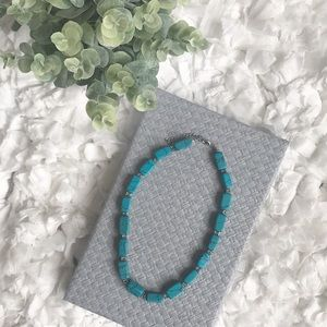 Jewelry - Turquoise and Silver Beaded Necklace